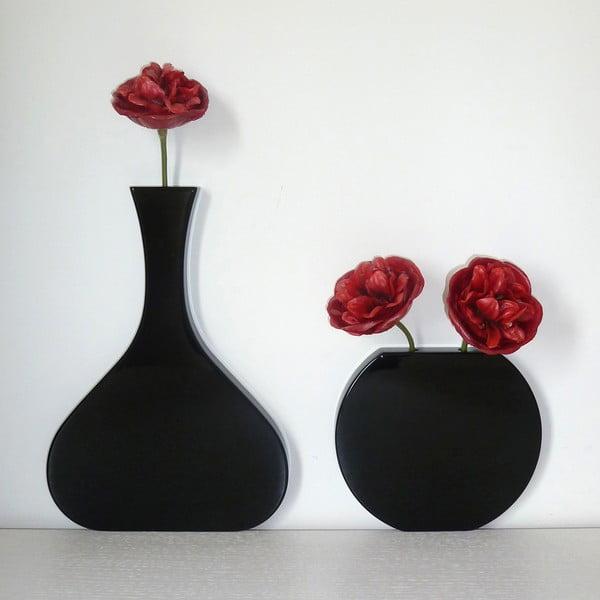 Nástěnná váza Vanity Tall Black