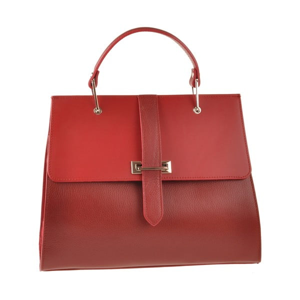 Kožená kabelka Pau, červená