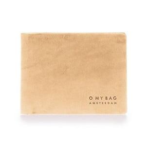 Béžová kožená pěněženka O My Bag Joshua