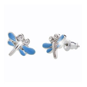 Cercei Swarovski Elements Laura Bruni Dragonfly Duo, albastru