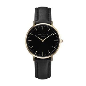 Černo-zlaté dámské hodinky Rosefield The Tribeca