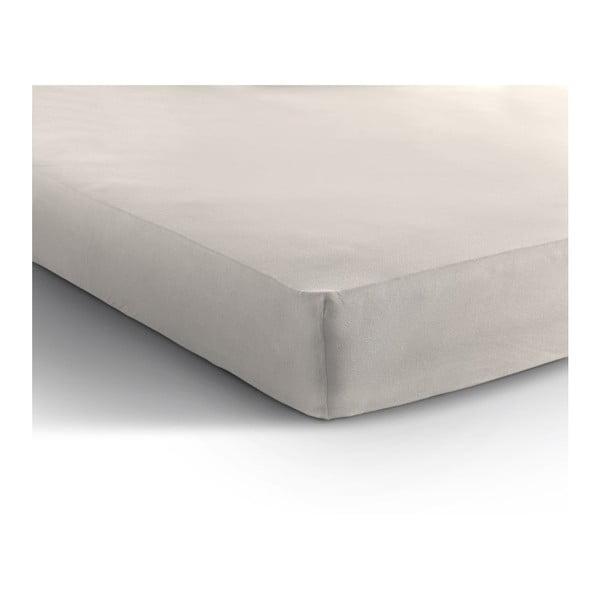 Cearșaf de pat din bumbac ranforsat Zensation Zen, 180 x 200 cm, crem - alb