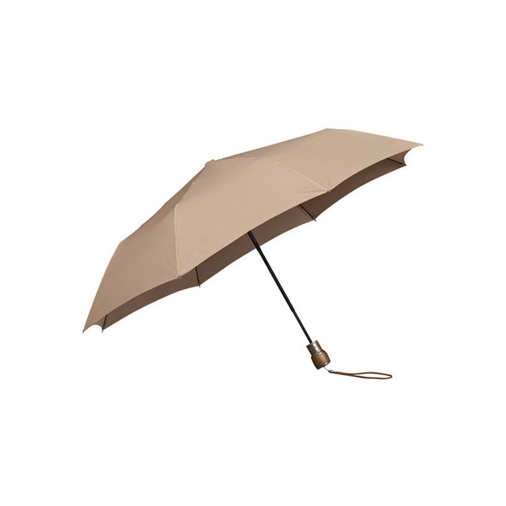 Béžový skládací deštník Ambiance Mini-Max Beige, ⌀ 100 cm