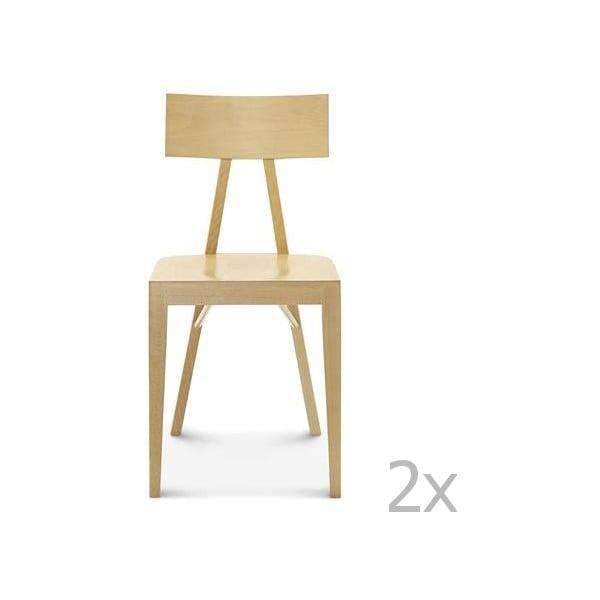 Sada 2 dřevěných židlí Fameg Caja