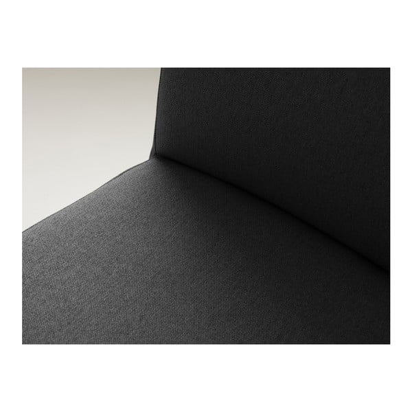 Antracitově šedá barová židle s přírodními nohami Custom Form Wilton