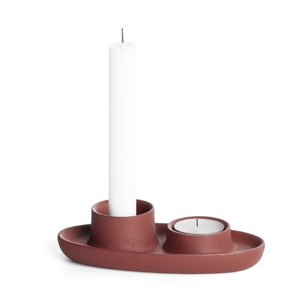 Svícen ve vínové barvě EMKO Aye Aye Two Candles