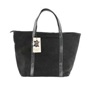 Černá kožená kabelka Chicca Borse Miranda