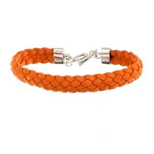 Náramek Strand braided silver, orange