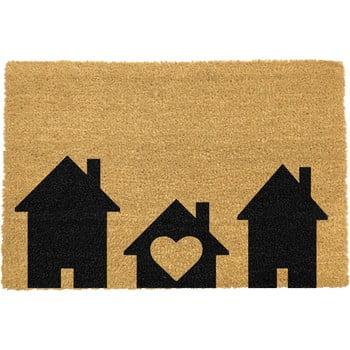 Covoraș intrare din fibre de cocos Artsy Doormats Home is Where, 40 x 60 cm imagine