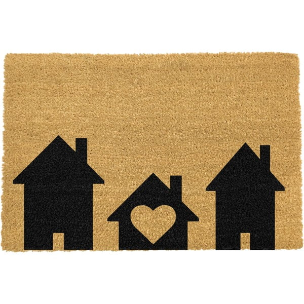 Covoraș intrare din fibre de cocos Artsy Doormats Home is Where, 40 x 60 cm
