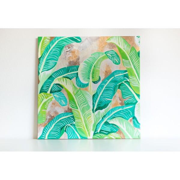 Obraz Banana Leaves, 70x70 cm