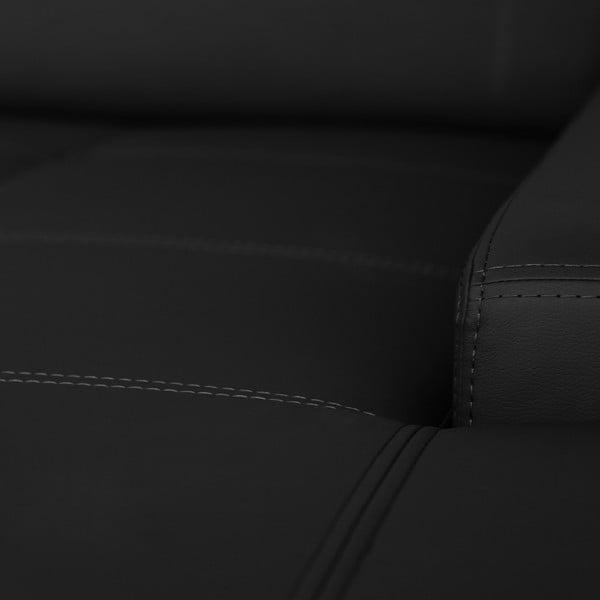 Černá pohovka Modernist Cardigan, pravý roh
