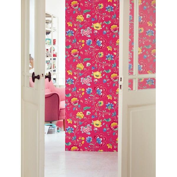 Tapeta Pip Studio Floral Fantasy, 0,52x10 m, malinová