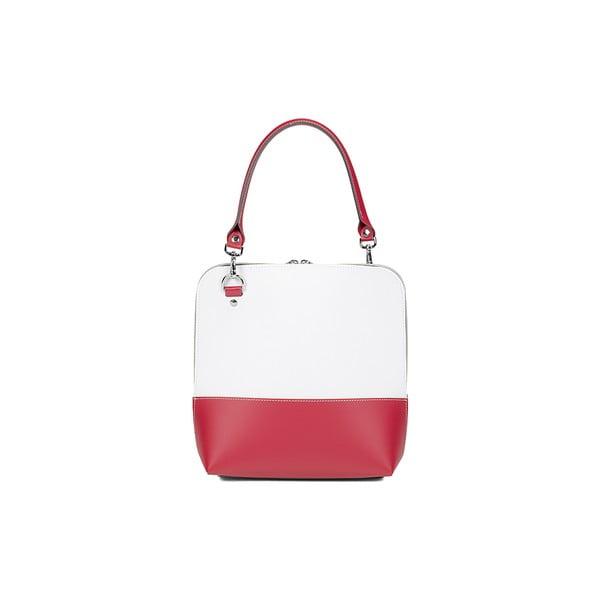 Kožená kabelka Mia Red/White