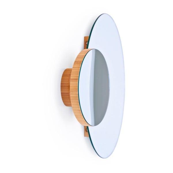 Podwójne lustro ścienne Wireworks Eclipse Bamboo