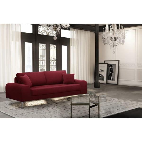 Canapea cu 3 locuri Corinne Cobson Dillinger, roșu