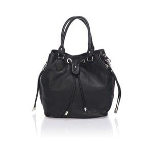 Kožená kabelka Bucketino, černá