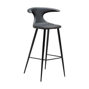 Scaun bar, piele, DAN-FORM Denmark Flair, negru