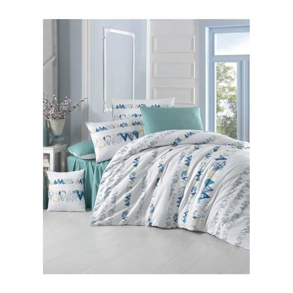 Lenjerie de pat din bumbac cu cearșaf și fețe de pernă Tu Ana, 200 x 220 cm