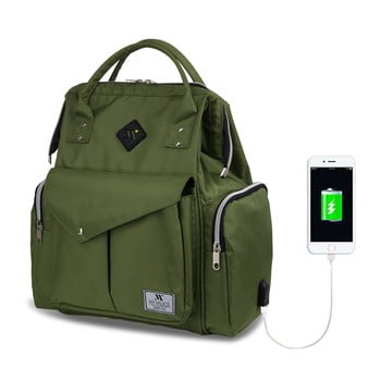 Rucsac maternitate cu port USB My Valice HAPPY MOM Baby Care, verde