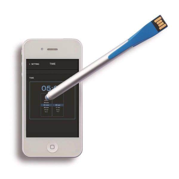 Stylus s USB diskem Point 4GB, modrý
