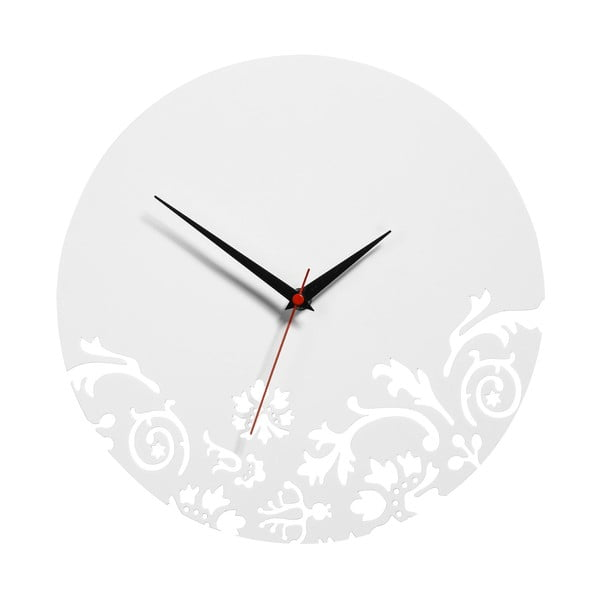 Nástěnné hodiny White Clock, 30 cm