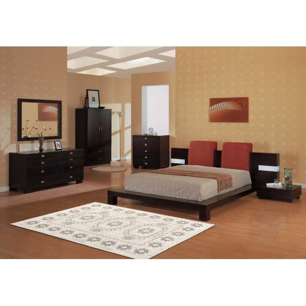 Krémový  bavlněný koberec Floorist Emily, 80x300cm