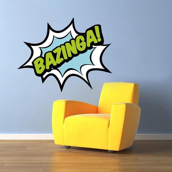 Samolepka na stěnu Bazinga!