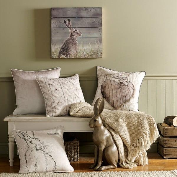 Tablou din lemn Graham & Brown Hare, 50 x 50 cm