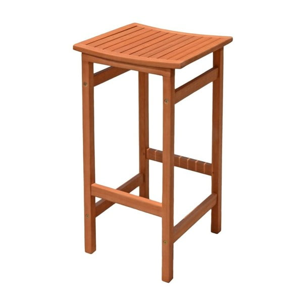 Sada 2 zahradních barových stoliček z eukalyptového dřeva ADDU Palmdale
