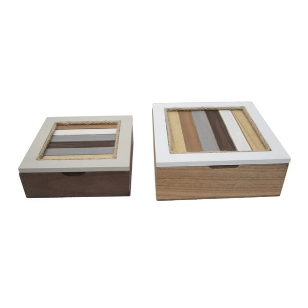 Zestaw 2 pudełek Mauro Ferretti Lignes