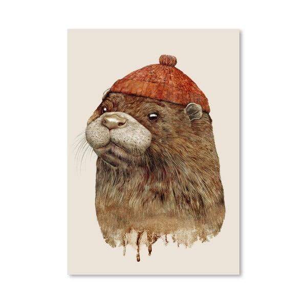 Plakát River Otter, 30x42 cm