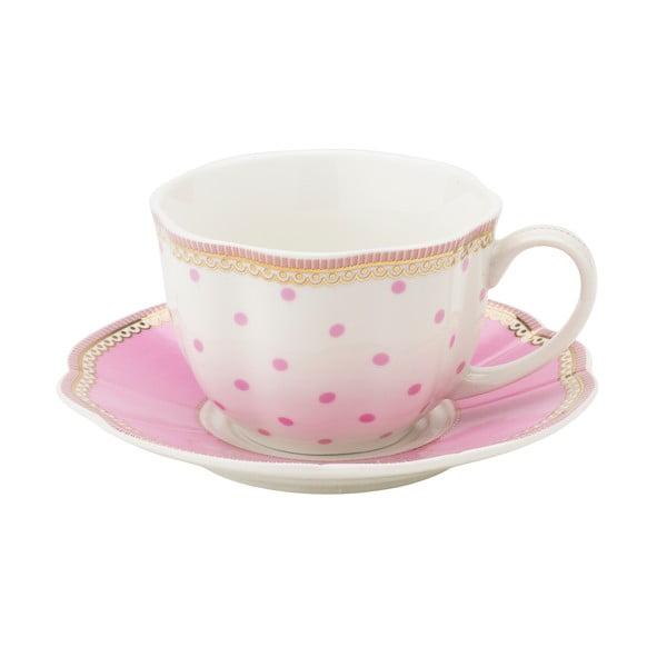 Porcelánový šálek s podšálkem Rosie od Lisbeth Dahl, 2 ks