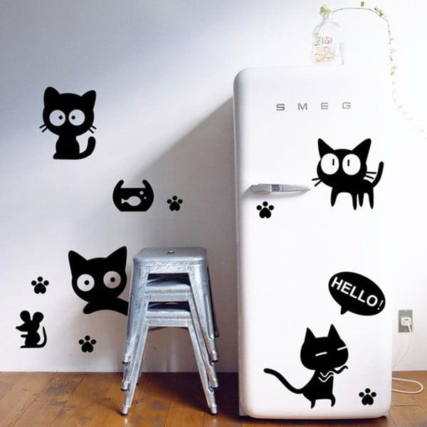 Dekorativní samolepka Diver Cat, 76x72 cm