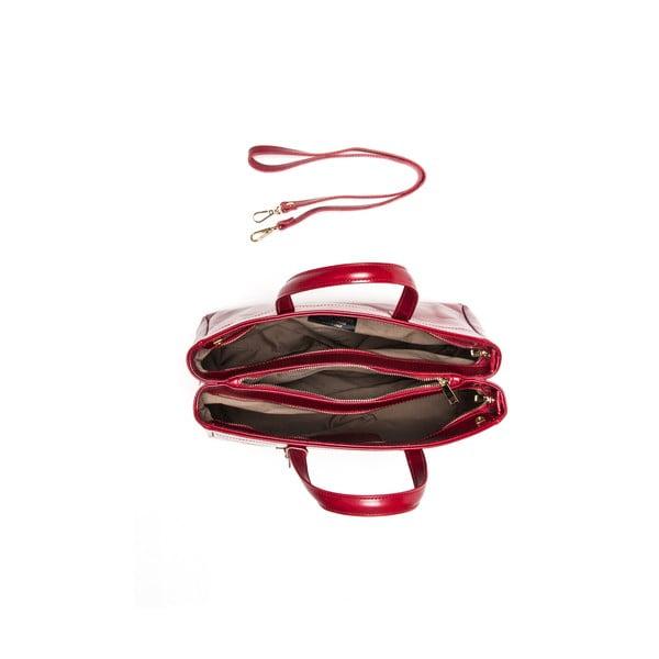 Kožená kabelka Luisa Vannini 380 Rosso