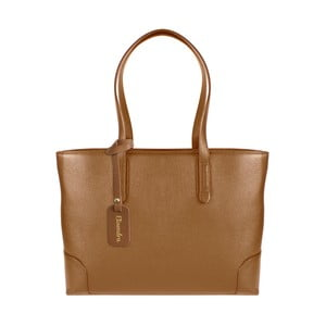 Hnědá kožená kabelka Maison Bag Lena
