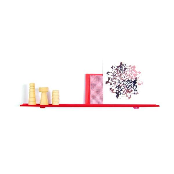 Nástěnná police Tab Shelf by Phil Procter, červená
