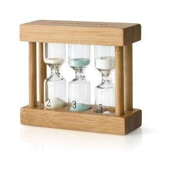 Cronometru tip clepsidră pentru ceai Bredemeijer, bambus poza