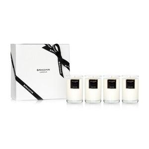 Set cadou 4 lumânări parfumate Bahoma, aromă de vanilie și caramel