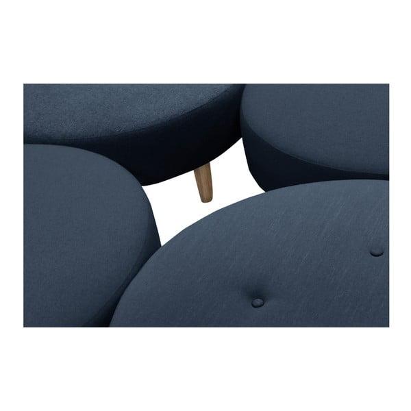 Tmavě modrý puf/odkládací stolek Helga Interiors Nolan
