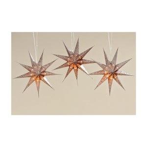 Sada 3 ks závěsných hvězd Solei, 45 cm