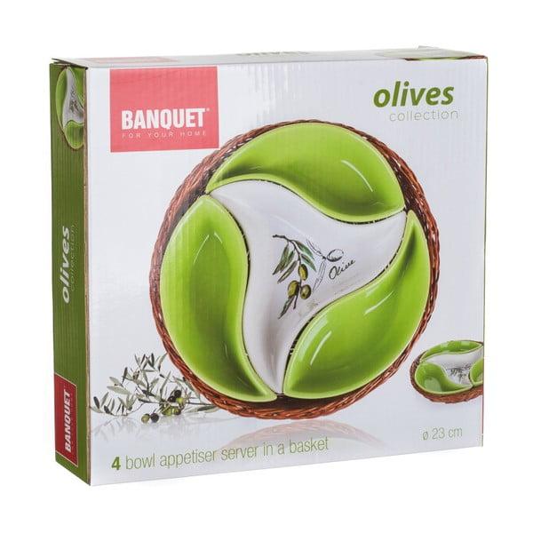 Mísa v košíku Banquet Olives, 23 cm