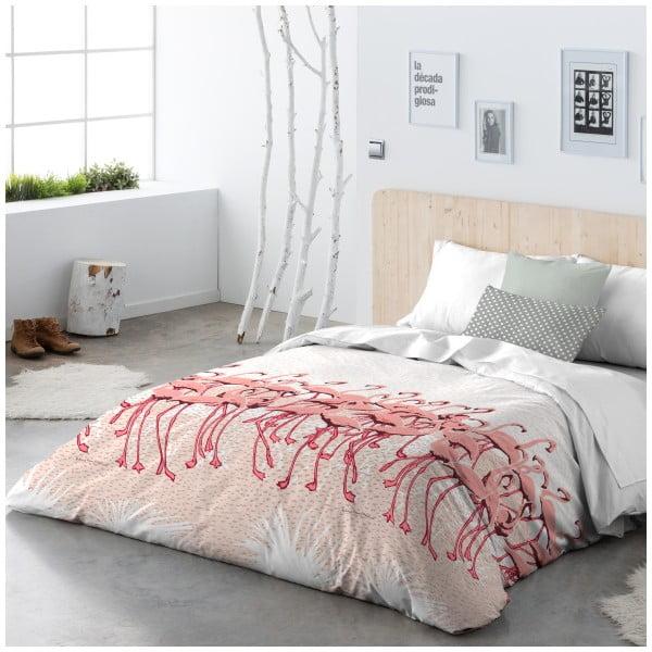 Povlečení Flamingo Flock Pink, 240x220 cm