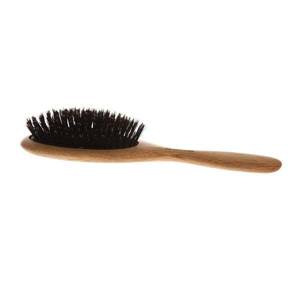 Oválný hřeben na vlasy z kančích štětin Iris Hantverk