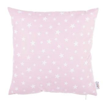 Față de pernă din bumbac Apolena Mirro, 35 x 35 cm, roz de la Apolena