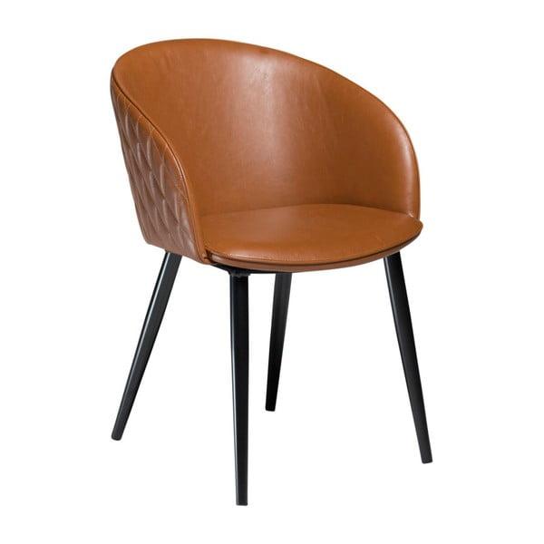 Brązowe krzesło ze skóry ekologicznej DAN-FORM Denmark Dual