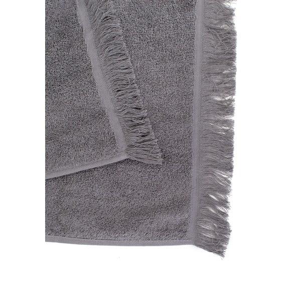 Sada 4 šedých bavlněných ručníků Casa Di Bassi Soft, 50x90cm