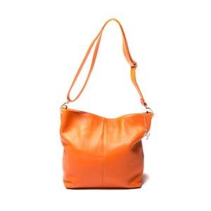 Kožená kabelka Luisa Vanini 1029, oranžová