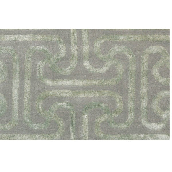 Vlněný koberec Twist Light Green, 153x244 cm