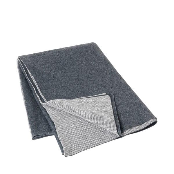 Tmavě šedá bavlněná přikrývka Blomus, 130x170cm